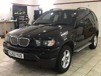 !!SPORT!! 2002 BMW X5 4.4 V8 4X4 / 12 MONTHS MOT / FULL BLACK LEATHER / PRIVACY GLASS / MUST SEE