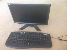 18.5inch monitor with keyboard