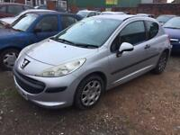 Peugeot 207 1.4 57 reg starts drives spares or repairs bargain cheap car