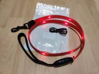 Brand new LED Dog Leash, USB Rechargeable Light Up Dog Lead