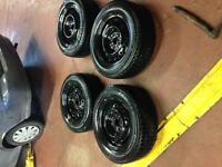 215 70 16 winter tires with new steel rims