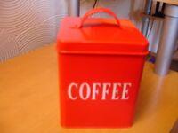 Coffee Tin---Storage Jar