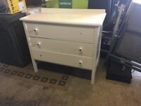 Wooden chest with three drawers, ideal for 'upcycling'.