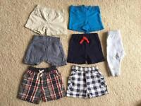 Boys shorts bundle size 3-6 months
