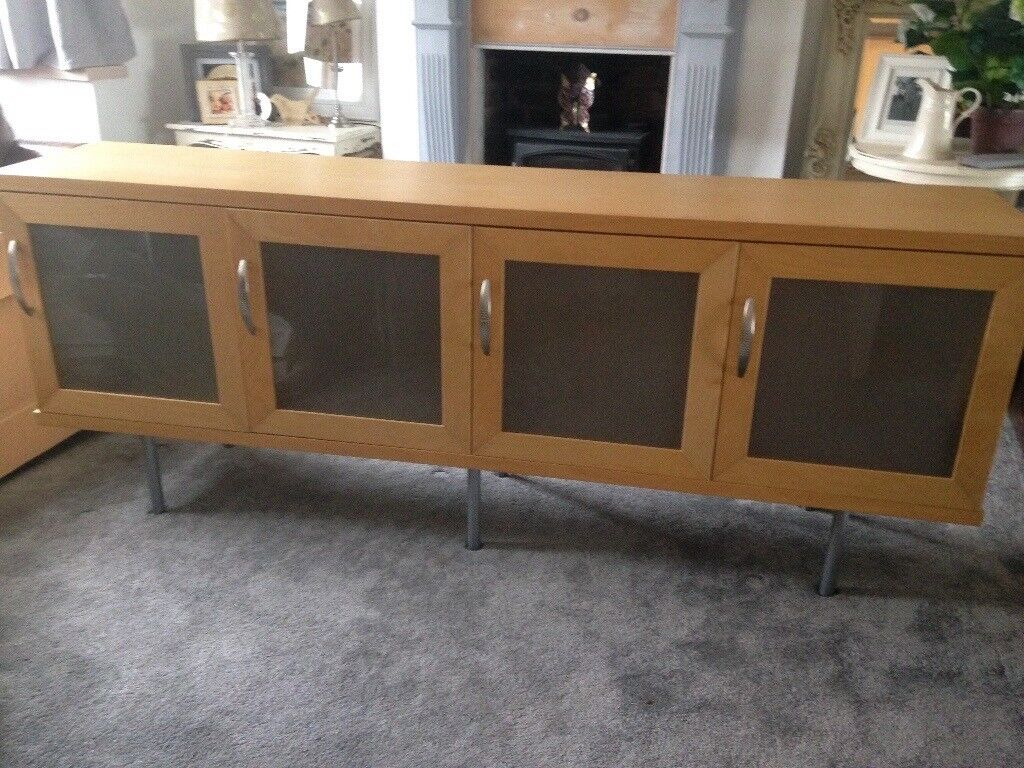 Ikea Sideboard With Glass Doors Really Lovely Condition 45