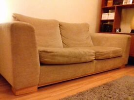 Large beige 3 seater sofa