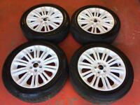 19'' GENUINE RANGE ROVER EVQOUE WHITE ALLOY WHEELS TYRES ALLOYS LAND FREELANDER