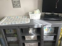 Grey changing table liatorp Ikea