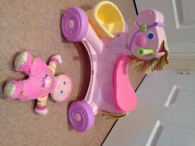 Fisher-Price Brilliant Basics Musical Pony- Excellent condition from non smoking home