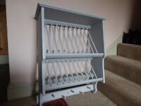Rustic kitchen plate rack