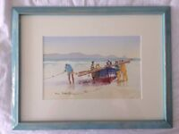 Stunning South African fishing scene watercolour