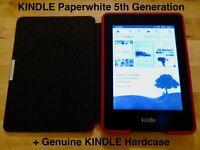 "Amazon KINDLE Paperwhite 5th Gen (EY21 B024) 2GB WiFi 6"" inc OEM Hardcover *VGC*"