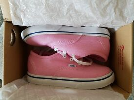 Girls pink vans *brand new in box*