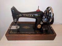 1931 Vintage gold and black Singer sewing machine