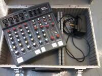 Soundcraft Spirit Folio Notepad Mixer + flight case & power