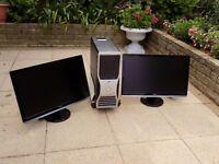 Dell desktop and 2 monitors