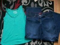 newish maternity clothes size 12 and 14