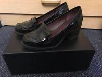 M&S Wide Fit Block Heel Loafers with Insolia® UK3/EU35.5