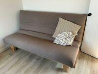 Sofabed Futon Company oak fusion sofa double bed premium mattress metaloakfusion sofabed 3 seat