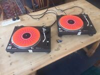 Great Pair of Technics SL-1210 MKII's (MK2's) - w/ Flight Cases - £790 ONO - East London