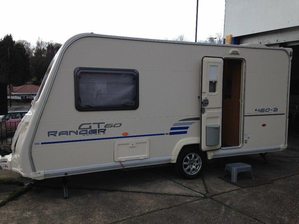 BAILEY RANGER 2010 GT60 2 BERTH LIGHTWIGHT CARAVAN WITH ...