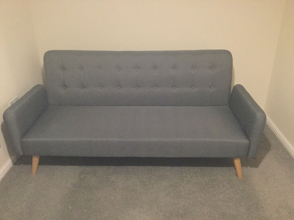 Hygena Mille Clic Clac Sofa Bed Grey