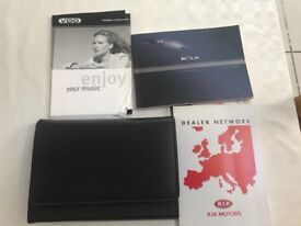 Kia Rio 2004 onwards owners handbook and genuine wallet