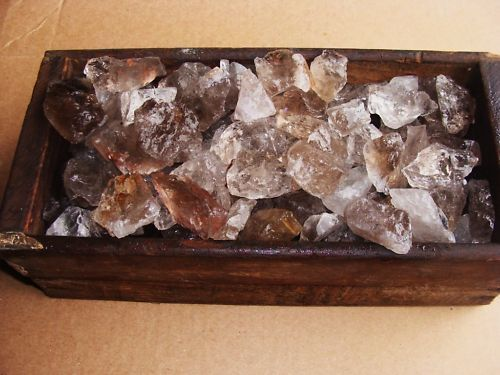 1000 Carat Lots of Smokey Quartz Rough - High Quality + a FREE Faceted Gemstone