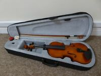 NEW Windsor Full Size 4/4 Violin Outfit with case, tuner and book