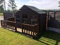 8ft x 4ft kids Wendy house (log cabin)