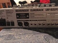 Warrior 1300 amp/ Behringer mixer/ Peavy speakers PA system