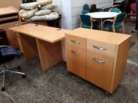 Office Set - Desk & Storage - Delivery Available