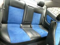 Vauxhall Astra Coupe Blue Alcantara Interior, seats & door cards