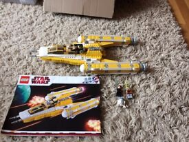 lego star wars 8037 anakiin y wing complete with 3 figures and instructions.