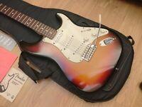 Fender Stratocaster Highway One Sunburst 2007 Nitrocellulose Gig Bag Candy UK Shipping