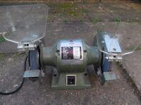 Heavy duty ball bearing bench grinder.