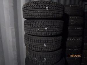 215/60R16 SET OF 4 USED FEDERAL WINTER TIRES