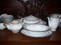 "Vintage Noritake ""Glenwood"" Fine China Tea Coffee and Dinner Service. 12 Place Settings"