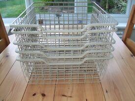 Ikea wire storage baskets for Pax wardrobe x 5