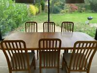Mid Century Extendable Dining Table and 6 Chairs