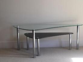 Glass kidney tables from next