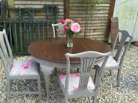 French Country Style Vintage Dining Table and Chairs - Stunning!