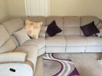 lazy boy brand new corner unit sofa with recliners beige in colour never been used