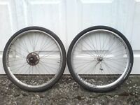 SET OF EXTREME 26 INCH WHEELS AND SLICK TYRES
