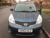 Nissan Note N-Technology DCI 1.5 Diesel Year 2012 £20 Only For 1 Year Rd Tax Genuine Low Mileage