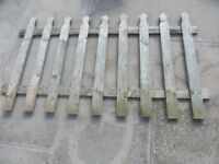 Fences x 2 Wooden and Gate Metal new.