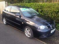 2008 Black Seat Ibiza 1.4 TDI SPORT - full years MOT