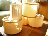 5 x Genuine quirky vintage lampshades (70s maybe 60s), £20 ono