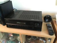 Onkyo HDMI AV receiver with 5 speakers