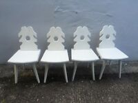 Cream country kitchen dinning chairs x 4